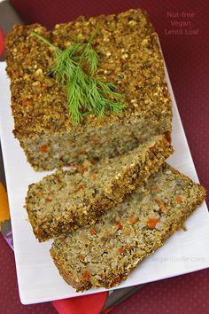 Possibly Mrs. Jenkins' infamous lentil loaf. (only this one is guaranteed to taste better)  Veganlovlie: Nut-free Vegan Lentil Loaf