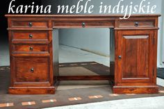 kolonialne biurko LD-902 brown