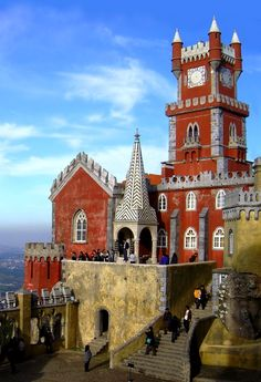 Pena Palace, Sintra, Portugal, created by the same architect who designed Neuschwanstein