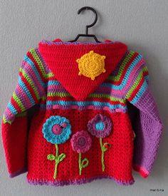 Crochet Baby Sweaters, Crochet Baby Cardigan, Crochet Coat, Baby Hats Knitting, Crochet Baby Clothes, Crochet Jacket, Knitting For Kids, Baby Knitting Patterns, Crochet Toddler