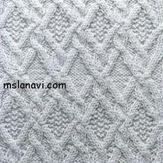Рельефный узор спицами №61 | Вяжем с Ланой http://mslanavi.com/2014/01/relefnyj-uzor-spicami-61/