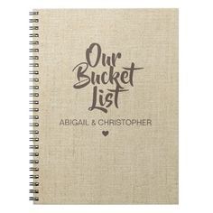 Shop Faux Linen Our Bucket List Couple Keepsake Journal created by rememberwhen_. Birthday Present For Husband, Christmas Gifts For Husband, Birthday Gifts For Boyfriend, Christmas Time, Presents For Boyfriend, Boyfriend Gifts, Boyfriend Bucket Lists, Custom Notebooks, Retirement Gifts