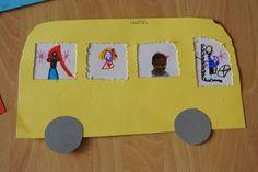 Bus Crafts, Preschool Crafts, Pre K Activities, Alphabet Activities, Letter B Crafts, School Projects, Projects To Try, Diy For Kids, Crafts For Kids
