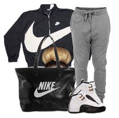 """#OFTD 04.21.14 Lazy day Air Jordan Retro 12 ~Brianna"" by vintagetrillbrat ❤ liked on Polyvore featuring NIKE, Diesel, Retrò, women's clothing, women's fashion, women, female, woman, misses and juniors"