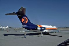Midway Airlines Douglas at Long Beach-Daugherty Field, June Midway was the first low cost carrier that emerged after airline deregulation in (Photo: AirNikon Collection-Pima Air and Space Museum) Midway Airlines, Chicago Photos, Air And Space Museum, Civil Aviation, Long Beach, Airplanes, Alaska, Hawaii, The Past