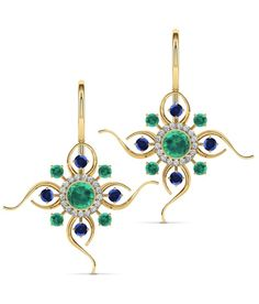 Caratlane Leela Drop 18 Kt Certified, Real Diamond Gold Earrings, Drop Earrings, Diamond Gemstone, Jewelry Stores, Jewelry Collection, Belly Button Rings, Dangles, Sapphire, Brooch