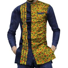 New African Men Short Sleeve Dashiki Slim Fit Shirts African Shirts For Men, African Dresses Men, African Attire For Men, African Tops, African Clothing For Men, African Outfits, African Wear Styles For Men, Traditional African Clothing, African Clothes