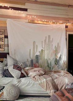 Up to 65 OFF - Tapestry - Flash Sale: Pastel Cactus Bohemian Wall Tapestry Bedroom Themes, Home Decor Bedroom, Modern Bedroom, Bedroom Ideas, Bedroom Designs, Coastal Bedrooms, Bedroom Rustic, Bedroom Bed, Bedroom Inspiration
