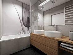 Znalezione obrazy dla zapytania projekt łazienki z wanną i prysznicem