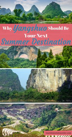 Planning to trael to China. A must see destination is Yangshuo. From the Moon Hill, the rivers, the Banyan Trees and mountains Yangshuo is worth the visit.