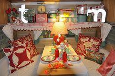 red vintage dinette