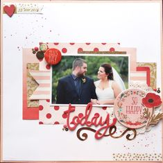 Today - Scrapbook.com- beautiful fresh wedding layout made with the Ashbury Heights collection by My Mind's Eye!