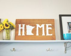 Minnesota Home State Wooden Sign from Swisstopher Robin. I know quite a few Minnesotans who would love this!