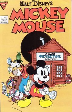 """This ain't no Mickey Mouse operation! This is highly quality Disney cartoonery! From 1936: Beginning the continuity """"The Seven Ghosts"""" stripped for newspapers by Floyd Gottfredson (they don't make them like this anymore). Colorized by Marie Severin (you don't want a kid with Photoshop skills on stuff this classic). Also featuring Sundays from the 30s also from Gottfredson (precolored, but recolored old school by staffer Mike McCormick). (Lonesome Ghostbusters cover by Daan Jippes.)"""