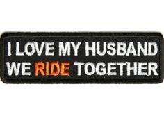 I love my husband ~ we ride together ! Shoreline Harley-Davidson  www.shorelinehd.com