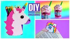 DIY MATERIAL ESCOLAR DE UNICORNIO | Frappé de Unicornio y +