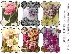 CARTONNETTESFLEURS : floral printable images.  Variety to choose from.