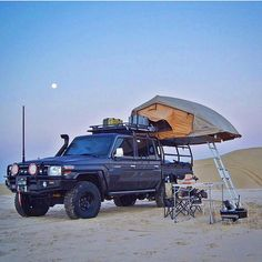 There are certain traits that define masculinity and what it means to man up that most men and women would still agree upon. Strength, reliability and action are all still core parts of what makes a man's man. Landcruiser Ute, Landcruiser 79 Series, Camping Set Up, Tent Camping, Outdoor Camping, Pick Up, Cool Tents, Roof Top Tent, Expedition Vehicle