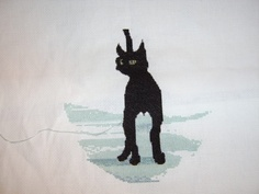 Cross Stitch WIP ~ P Buckley Moss *Cinders* - Scrapbook.com