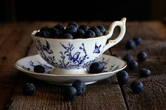 Pretty Teacup with Blueberries