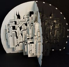Cosmopolitan middle section. by Ingrid Siliakus, via Flickr  NYC skyline in a papercut