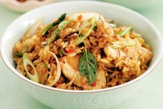 Chicken Fried Rice - This tasty variation on fried rice is guaranteed to keep the hungry hordes happy.