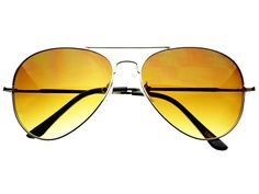 Brown Lens Metal Aviator Sunglasses Silver A814