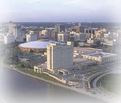 Wichita Kansas is the largest city in Kansas, located on the Arkansas river. The city is called the Air Capital Of The World because of the major aircraft industries located there.