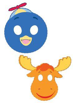 Dicas pra Mamãe: Máscaras para festa da Peppa Pig e Backyardigans para imprimir Peppa Pig, Ideas Para Fiestas, Toddler Activities, Tweety, Pikachu, Mickey Mouse, Easter, Cartoon, Birthday