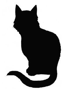 tattoo black cat silhouette - Google Search