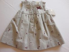 NWT Zara Baby Girl Gray Dragonfly Lined Jumper Dress, 3-6 mos. #ZaraBabyGirl