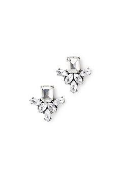 Faux Gem Drop Earrings   FOREVER21 - 1049259012