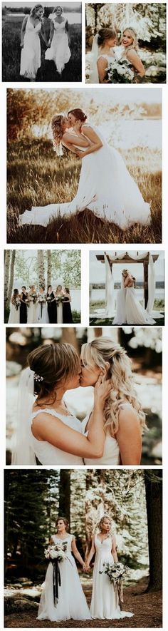 True Love. Erin & Madison. A lesbian wedding to be inspired…