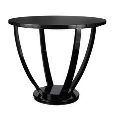 Round Lexington Dining Table, Small - Black #OKA #Furniture #Design