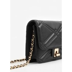 Quilted Cross-Body Bag (240 MXN) ❤ liked on Polyvore featuring bags, handbags, shoulder bags, mango handbags, crossbody shoulder bag, embellished purse, quilted chain strap shoulder bag and quilted crossbody purse