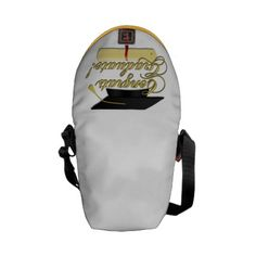 Congrats Graduate Diploma and Graduation hat Messenger Bags by PLdesign $50.95