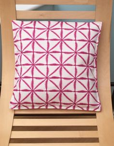 Pink geometric cushion cover, geometric print, square design, home decor, pillow, Geometric Cushions, Decor Pillows, Beautiful Gifts, Fabric Design, Handmade Items, Stitch, Abstract, Sewing, Pattern