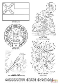 Mississippi State outline Coloring Page. I copy the image