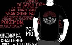 Pokemon Typography T-Shirt Get yours here: http://tshirtonomy.com/go/pokemon-typography