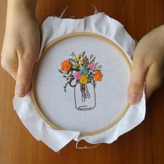 If I ever pick up embroidery again here is one methods for finishing your embroidery hoops.