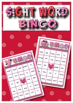 sight word valentine bingo - Google Search