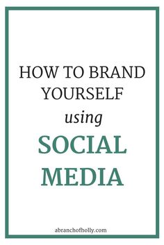 Social media is so important for your brand. It helps to bring everything together. It helps you to develop more of a personal identity, establish your expertise and stand out.