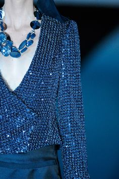 Giorgio Armani  Blue and Bling...say Yes