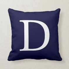 Navy Blue Throw Pillows, Blue Throws, Navy Blue Bedrooms, Bedroom Games, Nautical Home, Custom Pillows, Party Hats, Art Pieces, Monogram