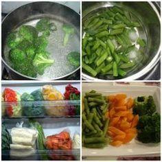 Como congelar legumes.