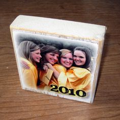 Personalized gift- Larger Photo Letter Blocks- GRADUATION thanks coach TEACHER GIFT friends. $12.50, via Etsy.