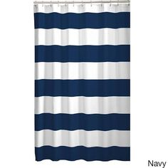navy striped shower curtain - Google Search