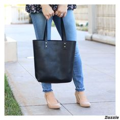 Shop Ashley Fine Black Monogram Leather Tote Bag created by holtzleather. Black Leather Bags, Leather Purses, Leather Handbags, Black Handbags, Tote Handbags, Tote Bags, Holtz Leather, Cute Crossbody Bags, Womens Purses