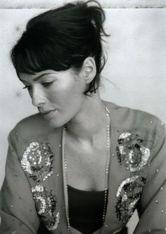 Lena Headey updo with bangs