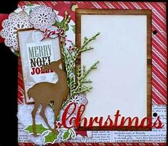 Christmas scrapbook page | Sketches | Pinterest